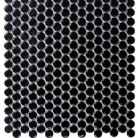 Black Porcelain Pennyrounds Ceramic