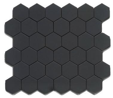Alameda black-matte-2-inch-hexagons