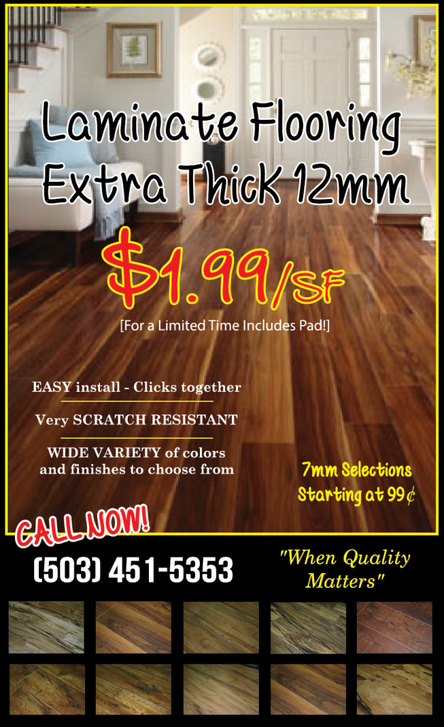 12mm Laminate Flooring Sale Tigard Carpet Amp Tigard Flooring