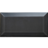 Beveled matte Black Subway Tiles