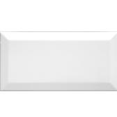 Beveled White Matte Subway Tiles