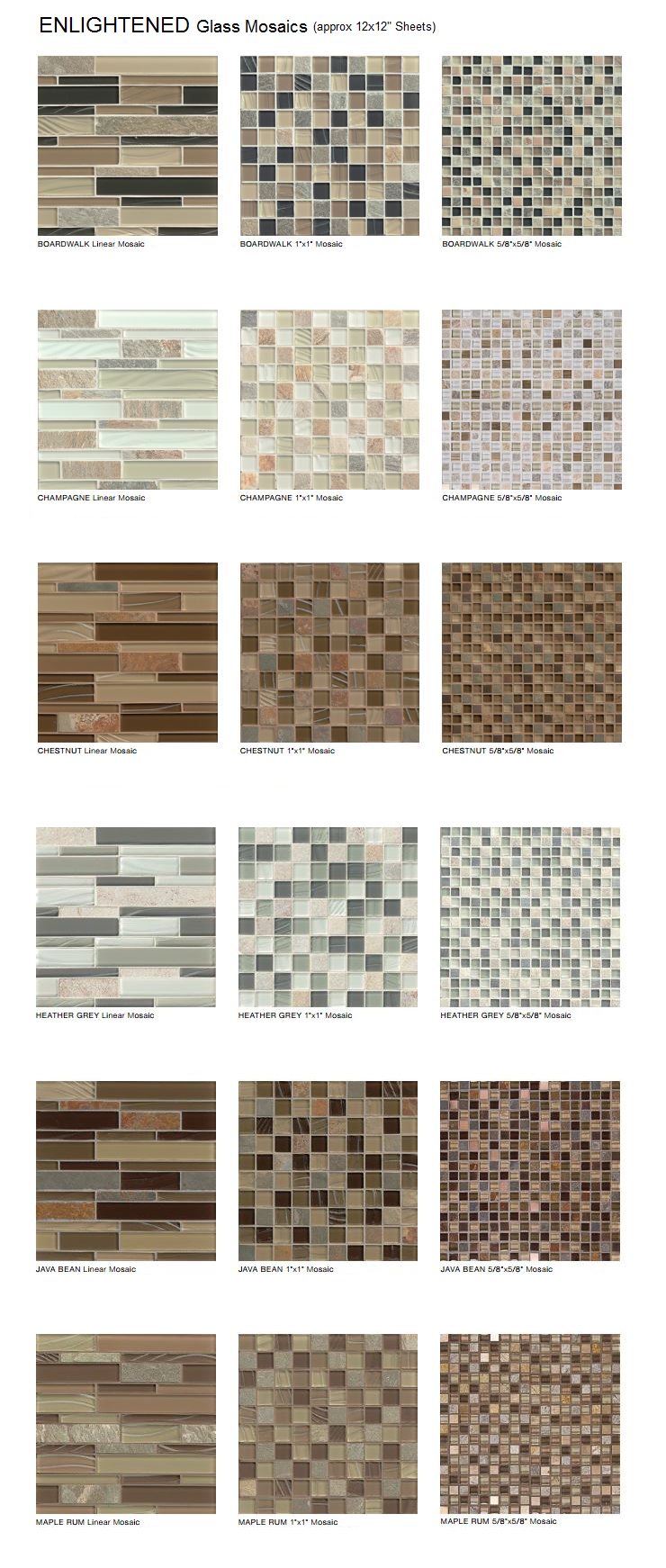 Glass Stone Mosaic Tiles
