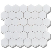 2 inch white hexagon porcelain mosaics