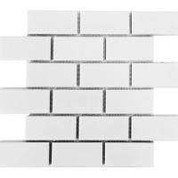 2x4 white porcelain mosaics subway tiles