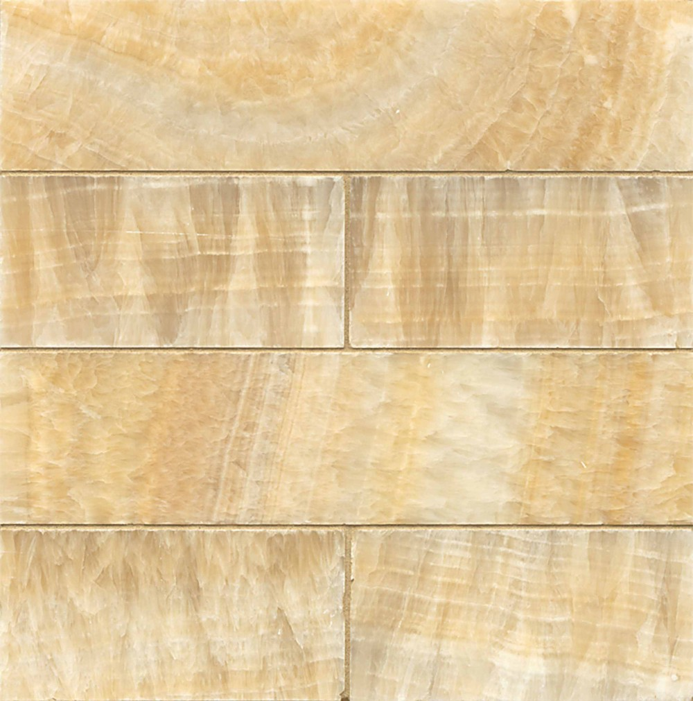 Butterscotch Onyx 3x12 Honed Marble Tigard Carpet
