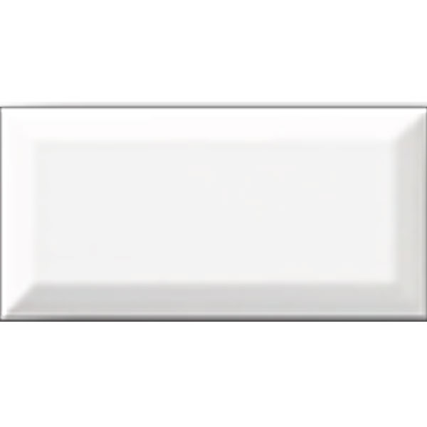 White Ice Bright Beveled Ceramic Tile