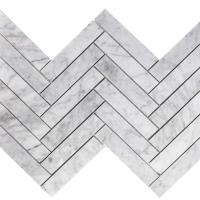 Carrara Marble Herringbone Honed