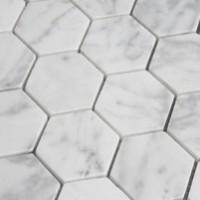 Carrara Marble 2x2 Hexagons