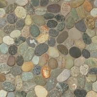 Multicolor Pebble mosaic tiles