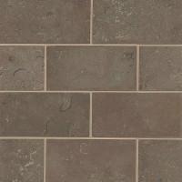 Marron Limestone Brushed 3x6